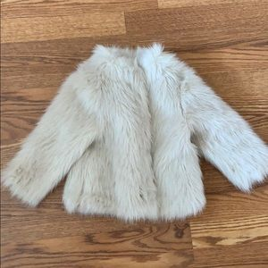 H&M faux fur jacket size 2-3y